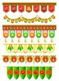 Dörröppning som hänger för indisk traditionell garnering stock illustrationer