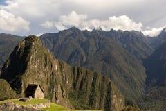Dörröppning till Machu Picchu Arkivfoto
