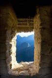 Dörröppning till Machu Picchu Arkivfoton