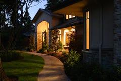 dörröppningslampa Fotografering för Bildbyråer