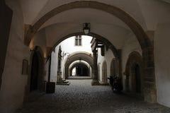 dörröppningsrothenburg arkivfoto