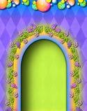 dörröppningssagobok royaltyfri illustrationer