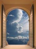 dörröppningsserenity till Royaltyfri Foto