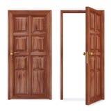 dörr stock illustrationer