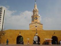 Dörr av gamla Cartagena Arkivfoton