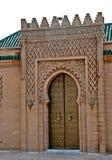 Dörr av mausoleet av Mohamed V Fotografering för Bildbyråer