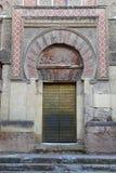 Dörr av moskén av Cordova Arkivbilder