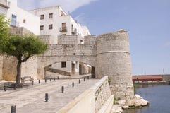 Dörr av Sant Pere Arkivbild