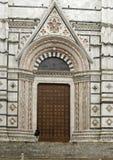 Dörr av Siena Cathedral Duomo di Siena Fotografering för Bildbyråer