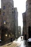 Dörr Bisbe i Barcelona, Spanien Royaltyfri Bild