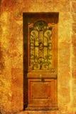 dörr danat gammalt trä royaltyfri foto