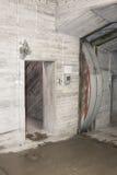 Dörr för kalla krigetbunkertryckvåg royaltyfri fotografi