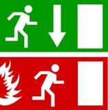 Dörr för nödlägebrandutgång och utgångsdörr Arkivbild
