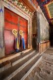 Dörr fristad, scripturekorridor, kulör teckning, slott Royaltyfria Foton