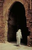 dörr gammala morocco Arkivbild