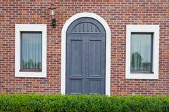 Dörr med fönstret Royaltyfri Bild