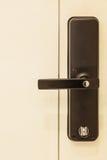 Dörr med modernt låsa Arkivbild