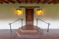 Dörr på beskickningen Santa Clara de Asis Santa Clara Kalifornien, USA Arkivbild