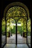 Dörr på trädgården Fotografering för Bildbyråer