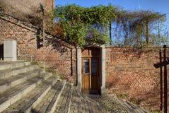 Dörr på trappan för 400 moment, Liege Arkivfoton