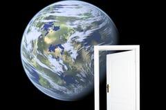 dörr som är ny till världen royaltyfri illustrationer