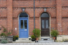 dörr som därefter strömförande Royaltyfri Fotografi