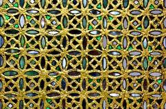 Dörr som dekoreras med kulört exponeringsglas Royaltyfria Foton
