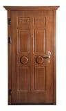 Dörr som isoleras på vit arkivbild