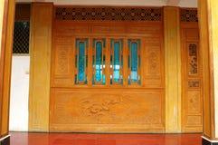 dörr som woodcutting Royaltyfri Bild