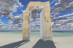 Dörr till anda (tolkningen 3D) Royaltyfri Fotografi
