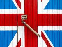 Dörr till Britannien royaltyfria bilder