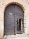 Dörr till den LaCalahorra slotten Royaltyfri Foto