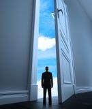 Dörr till himmel Fotografering för Bildbyråer