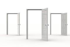 dörrar öppnar Royaltyfri Fotografi