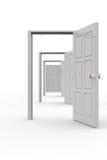 dörrar öppnar rad Arkivfoto