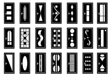 dörrar royaltyfri illustrationer