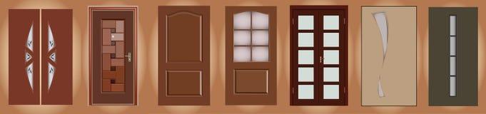 dörrar stock illustrationer