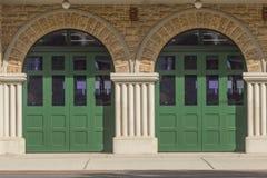 Dörrar av brandhuset Royaltyfri Foto