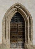 Dörrar av Sts George kapell på den Hohensalzburg slotten, Salzburg, Österrike royaltyfri bild