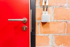 Dörrar av tekniska rum Royaltyfri Bild