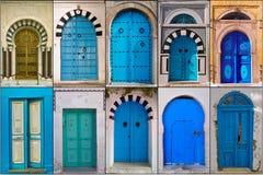 Dörrar av Tunisien Royaltyfri Foto
