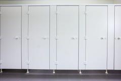 Dörrar från toaletter Fotografering för Bildbyråer