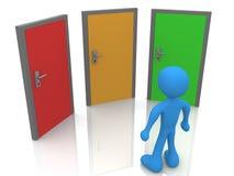 dörrar front tre Arkivbild