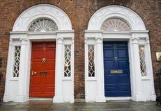 dörrar georgian dublin Arkivfoto