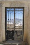 Dörrar i Grekland Fotografering för Bildbyråer
