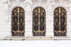 dörrar iron wrought Fotografering för Bildbyråer