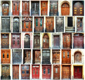 dörrar lviv ukraine royaltyfria bilder