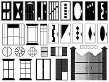 Dörrar och fönster Arkivbild