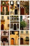 Dörrar och fönster Arkivfoton