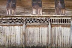dörrar red ut trä Royaltyfri Foto